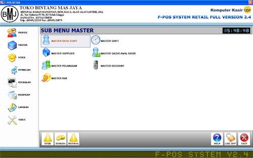 F-Pos T.Bangunan/T.ATK/License Standar