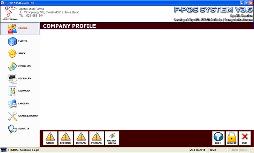 F-Pos Apotek/License Standar